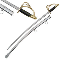 Cavalry Sword with Black Handle 40""