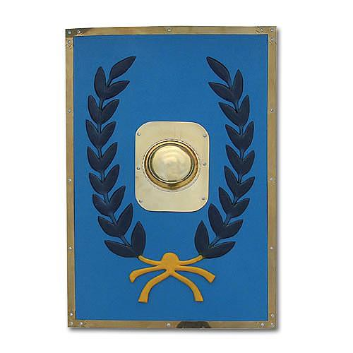 Blue Feather Roman Army Battle Shield 29 1/8""