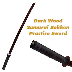 Dark Wooden Practice Samurai Bokken Sword 40&quot;