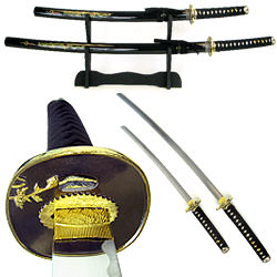 Master Dragon Samurai Sword Set w/ Display Stand 39""