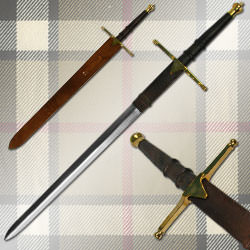 William Wallace Medieval Sword w/ Sheath (Brass) 40 3/4""