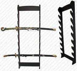 8 PIECE WALL STAND DISPLAY RACK