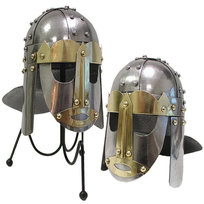 Mini Anglo-Saxon Helm with Desktop Display