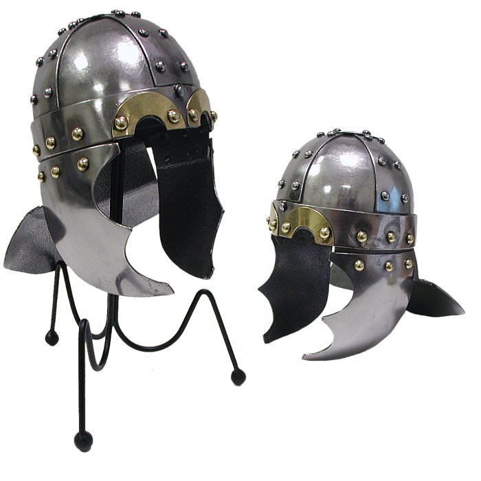 Mini Viking Golden Eye Helm with Desktop Display