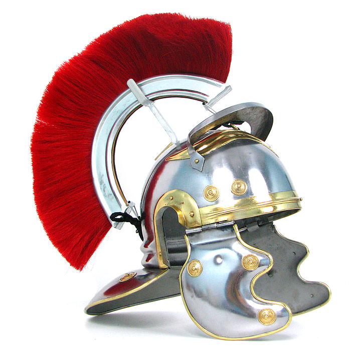 Crested Roman Officers Helmet