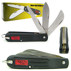 Electrician Knife -3 Blades- Pruning, Screwdriver and Utility