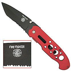 Firefighter Tactical Knife 8 1/4""