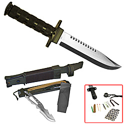 Jungle King Hunting Knife with Nylon Sheath 14""