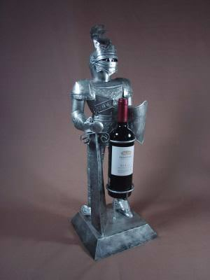 2 Foot Suit of Armor Bearing Wine SPECIAL