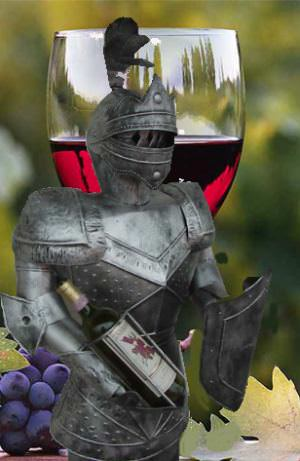 5 Foot Suit of Armor Bearing Wine SPECIAL