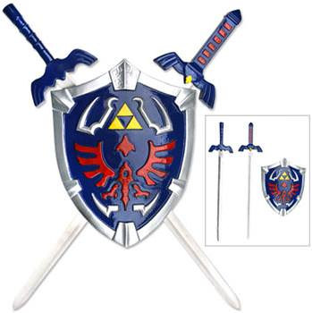 Legend of Zelda - Mini Princess Replica Sword with Shield Display 17&quot;