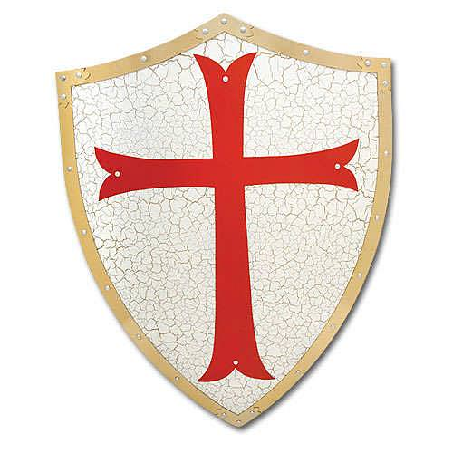 Knights Templar Shield steel 24""