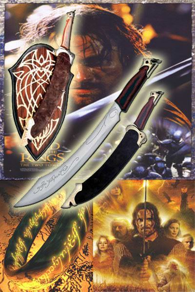 Sword of Strider Lord Of The Rings Elven Strider Ranger Sword Knife LOTR