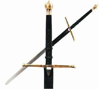 Braveheart Highlander Claymore Sword w/Sheath 53""