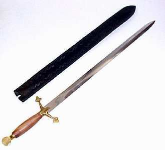 Scottish Simple Claymore Sword w/Sheath 27""
