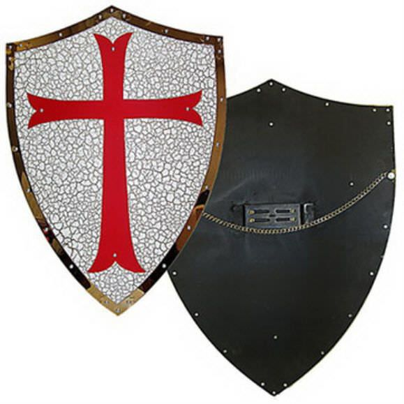 "Knight's Holy Crusader Templar Shield 24"" (tall)"
