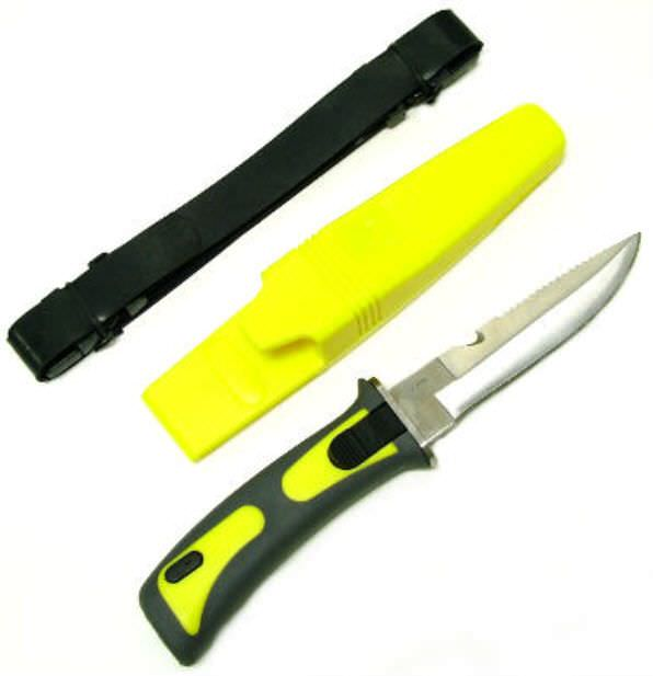 SCUBA Dive Master Knife Yellow 9""