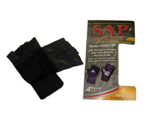 Real Leather Fingerless Sap Gloves XL