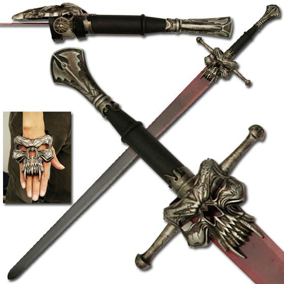 Dark Master Medieval Sword and Plaque  53""