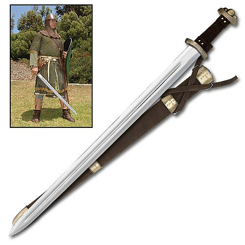 Classic Viking Sword and Sheath 36 1/4""