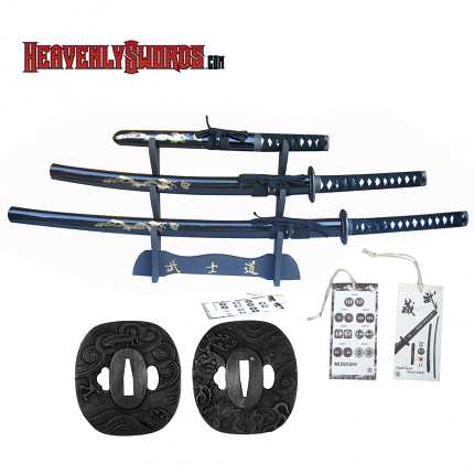 Musashi Hand Forged Samurai Katana Set - Black