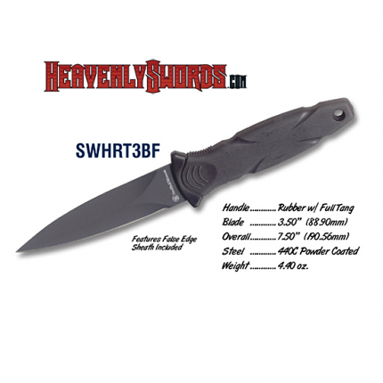 Black HRT Boot Knife w/False Edge
