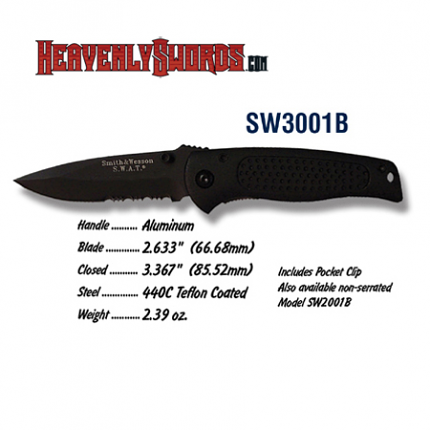 S&W SWAT Baby Black Serrated