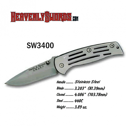 S&W Frame Lock Medium Non Serrated