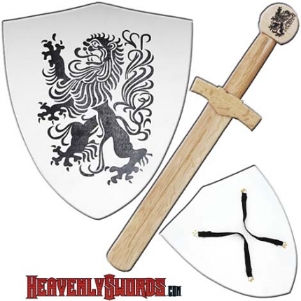 Chronicles of Narnia Wooden Shield and Short Sword Combo