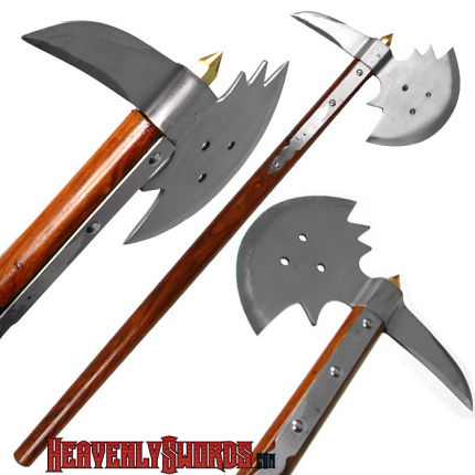 Medieval Carbon Steel Warrior Axe