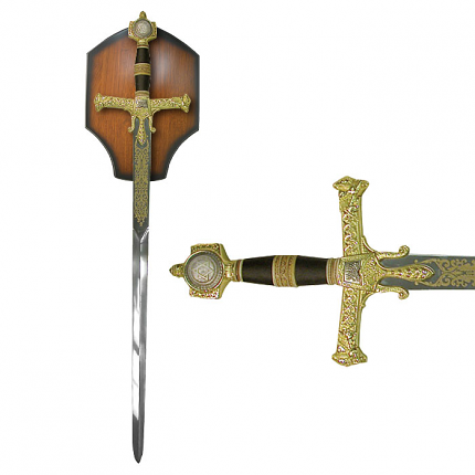 "The King Solomon Sword 47"" with display plaque"