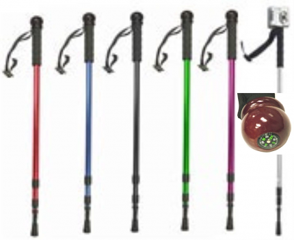 """Walking Hiking Cane - Monopod 6-colors - (not a sword) up to 54"""""""