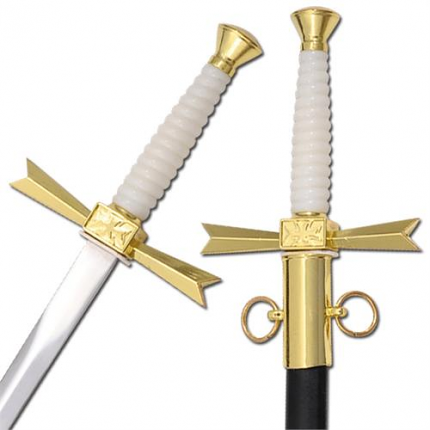 Freemasonry Crusaders Refined Display Dagger 15""