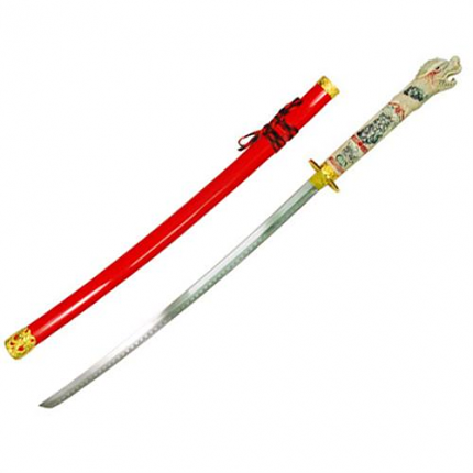 Highlander Duncan MaCleod Open Mouth Dragon Sword Red 42""