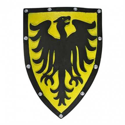 Yellow Legendary Phoenix Medieval Foam Shield LARP 21""