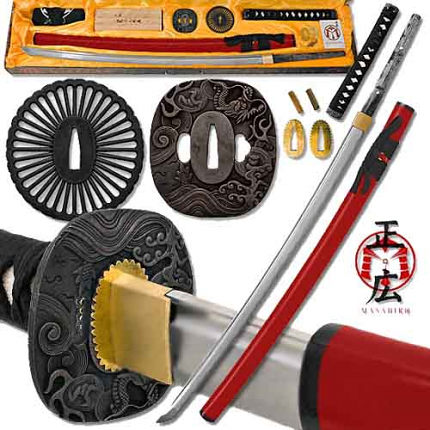 Build a Katana - Battle Ready Full Tang Sword Assembly Kit Red