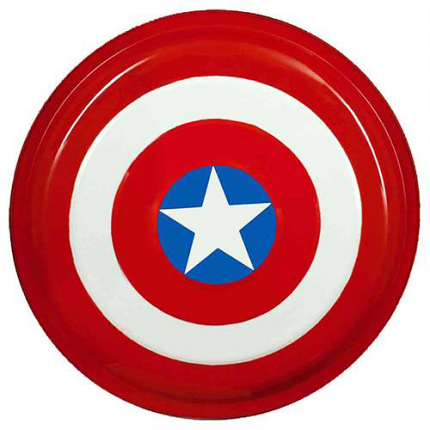 Captain America Superhero Shield Steel 17""