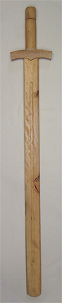 Wooden Medieval Knight Sword 38""
