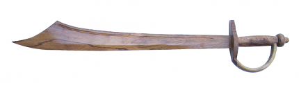 Pirate's Wooden Cutlass Sword 30""