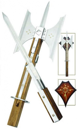 Battle Axe / Pike / Sword & Plaque 26""