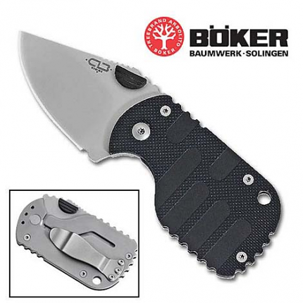 Boker Black Subcom Folding Knife 2 5/8""