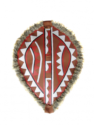 Native American Indian leather Shield 28""