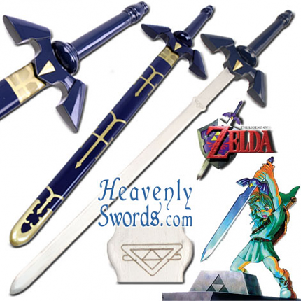 "Link's Master Sword - Legend of Zelda: Twilight Princess - 37 1/2"" Wooden"