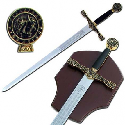 Excalibur King Arthur Golden Sword 48""