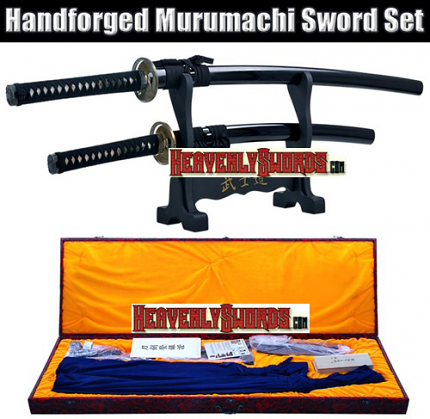 "Daisho Hand Forged Japanese Katana Wakizashi 2 Piece Sword Set 31"" & 43 1/2"""