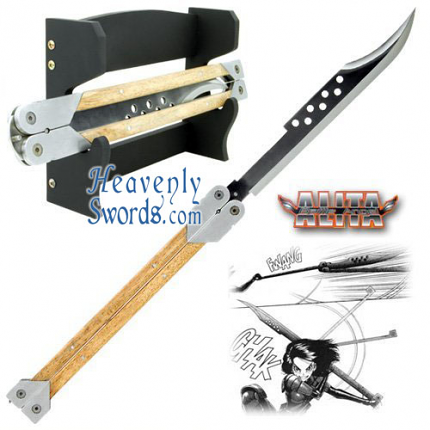 Battle Angel Alita - Damascus Blade Butterfly Knife