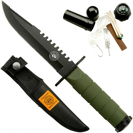 Field & Stream 8.5 Inch Survival Knife with Nylon Sheath