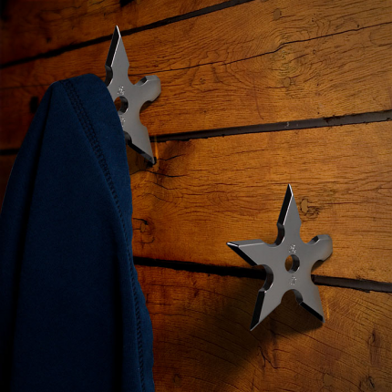 Whetstone CutleryT Ninja Throwing Star Coat Hook