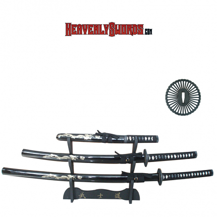 Musashi Hand Honed Katana Set - Black