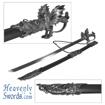 Whetstone Ornate Dragon Sword Medieval 40""